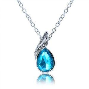 Blue Teardrop Necklace